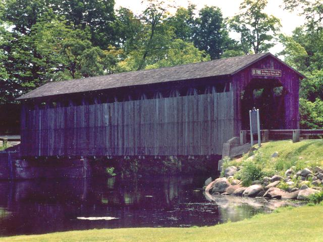 Fallassburg covered bridge photo